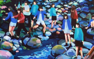 Liz-Toohey-Wiese-Brothers-Creek-Elissa-Cristall-Gallery-ArtWalk-South-Granville-2-1150x444