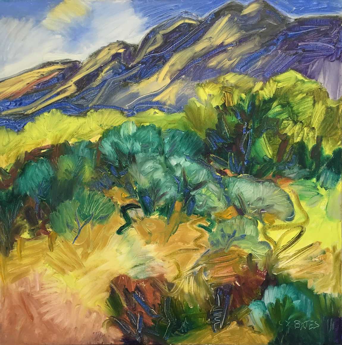 Pousette-Gallery-Catherine-Young-Bates-RCA-Sun-on-the-Mountains-Artwalk-South-Granville-Vancouver