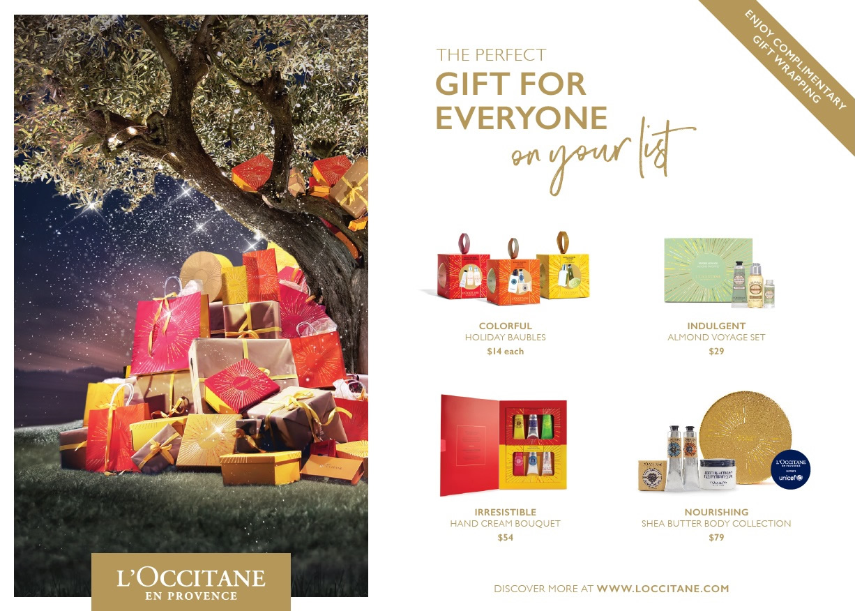 L'Occitane en Provence, South Granville Holiday Gift Guide 2017, Vancouver, British Columbia, Canada