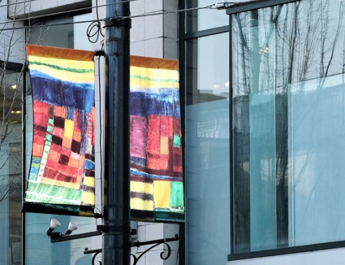 THE ART OF SYLVIA TAIT FEATURED ON NEW STREET BANNERS