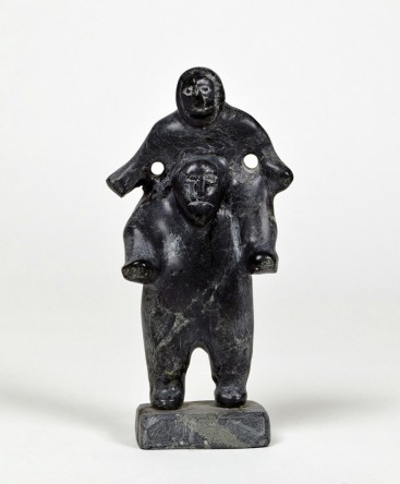 Central-Arctic-School-Man-Carrying-Child-from-Marion-Scott-Gallery-South-Granville-Vancouver