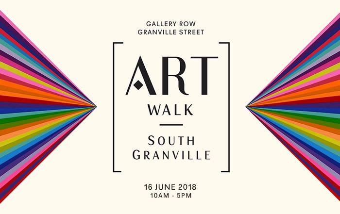 ArtWalk South Granville, 7th Annual Gallery Event, poster art by Kristofir Dean, Refracted Mystic Topaz, courtesy of Ian Tan Gallery Vancouver
