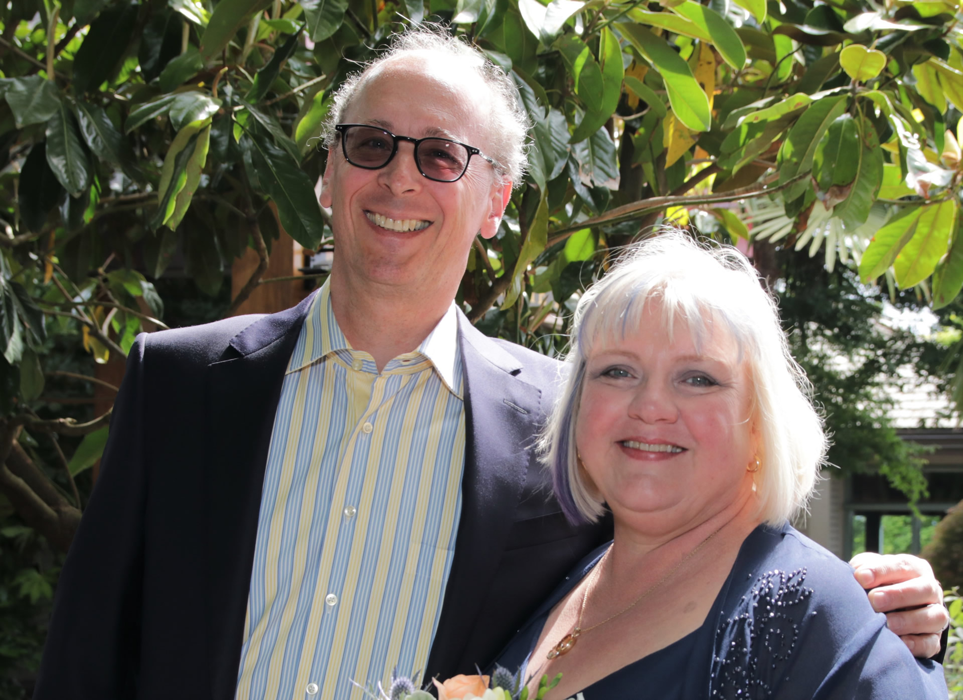 SGBIA Board President Leonard Ruppenthal and Executive Director Sharon Townsend