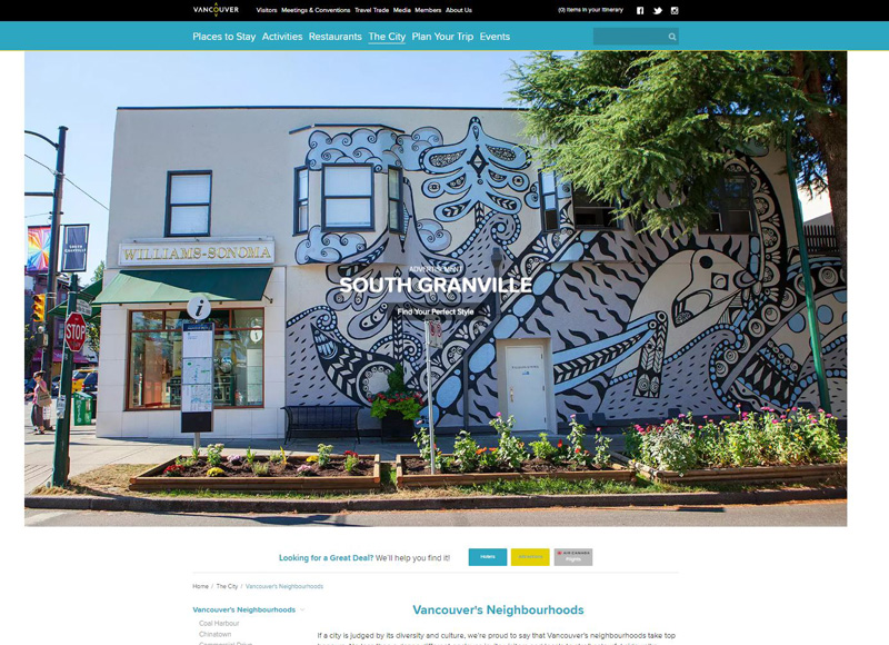 Tourism-Vancouver- Neighbourhood-Page-South-Granville-2018