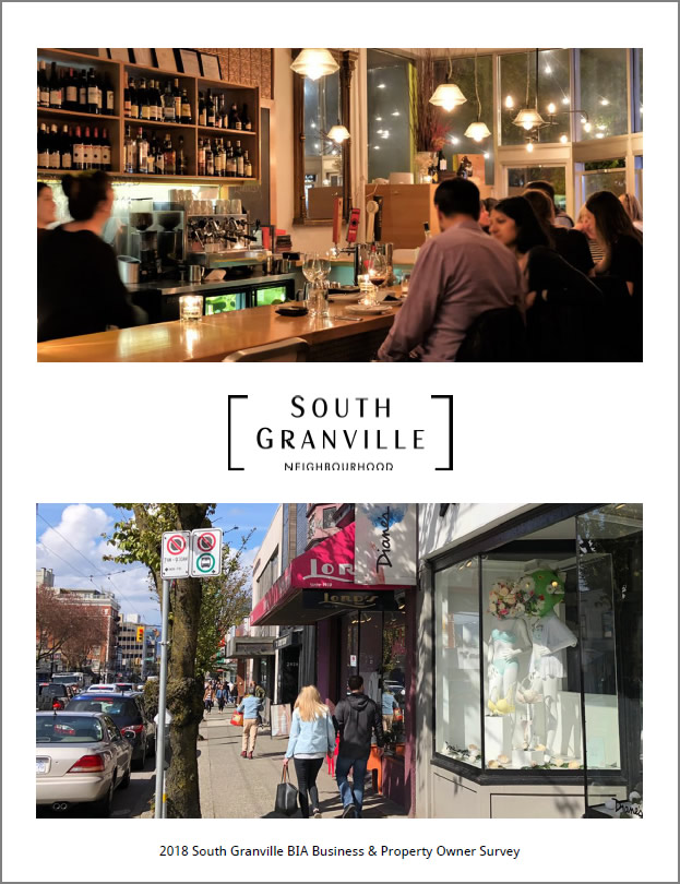 2018 South Granville BIA Business and Property Owner Survey Report pdf link