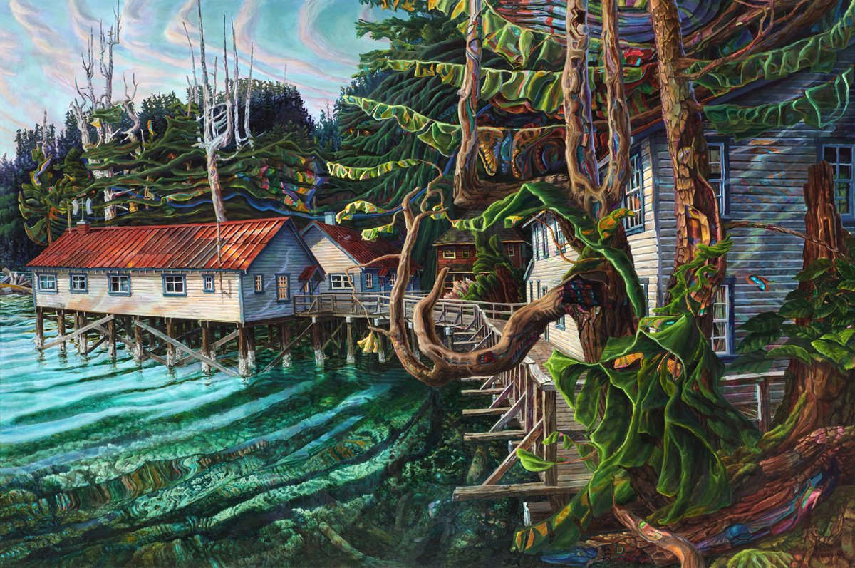Bau-Xi-Gallery-Drew-Burnham-goose-bay-cannery-oil-acrylic-on-canvas-art-South-Granville-Vancouver-1